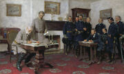 Tom Lovell Surrender At Appomattox Giclee On Canvas