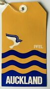 Vtg Pacific Far East Line Pfel Auckland Luggage Baggage Tag Cruise Ship Liner
