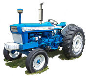Ford Model 5000 Farm Tractor Canvas Art Print By Richard Browne