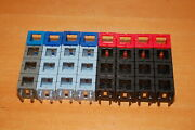 Lot Of 8 Rokenbok Straight 3 Cube Beams W/ Connectors Black Light Blue Grey Red