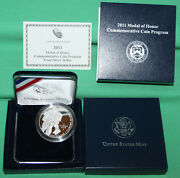 2011 Medal Of Honor Proof 90 Silver Dollar Us Mint Commemorative Coin Box + Coa