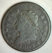 1809 Classic Head Copper Large Cent Early Penny Type Coin Variety Circulated 1c