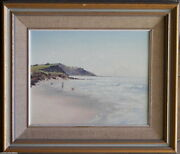 Sidney Woodward Smith 1904-72 Original Oil Painting Children And Beach Long Reef