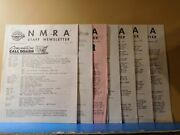 Nmra Staff Newsletter Lot Of 7 Issues 60's And 70's National Model Railway Associa