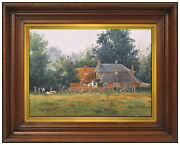 Ray Swanson Original Oil Painting On Board Signed Landscape Illustration Artwork