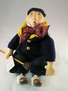 Department 56 - Collectors Doll - Golfer Golf Man Plaid - With Tag