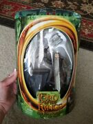 New Lord Of The Rings Fellowship Of The Ring Gimli W/ Battle Axe Swing Action
