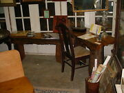 Salvaged Cypress Sinker Cypress Desk And Document Organization Table, Tree Truck