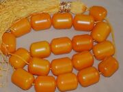 Vintage Extra Large Butterscotch Amber Bakelite Worry Beads 365 Grams Tested