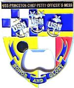 Awesome 3 Navy Usn Chief Cpoa Mess Challenge Coin Uss Princeton Cg-59