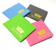 9 Mini Colorful Address Book Phone Number Pocket Size Contact Collections Analog