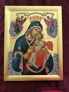 Orthodox Icon Greece Byzantine Hand Made Serigraphy 39x36 Inches