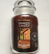 Yankee Candle New England Maple 22 Oz Large Jar Village Exclusive Scent