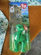 Rare Ty Erin The Bear Teenie Beanie Baby With Packaging Errors - New In Box