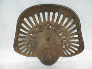 Old Vtg Cast Iron Buckeye Akron Aultman Miller And Co. Tractor Seat 2 Horse Drawn