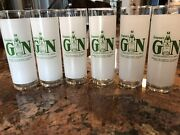 Seagram's Gin Vintage Letter Perfect All Ways Frosted Cocktail Glass Set Of 6
