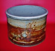 Large 11w X 8h Studio Pottery Jar With The Base Embosed With The Makerand039s Marks
