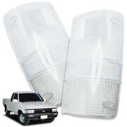 Pair Rear Tail Lamp Clear Len Cover Clear For Toyota Hilux Mighty-x Mk3 1988 97