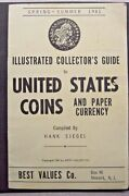 Illustrated Collector's Guide To U.s. Coins And Paper Currency 1961 Hank Siegel