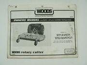 Woods Models 121-1 M121-1 121q-1 M121q-1 Rotary Cutter Owners Manual Tractor