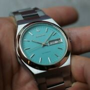 Vintage Bulova Automatic Day Date Mint Color Dial Custom Ro Mens Watch