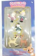 Enesco Rudolph And The Island Of Misfit Toys Miniature Christmas Ornaments New