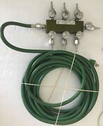 Veriflo Corp. Compressed Gas Regulator Model 11100150 W/ O2 Line And Fitting