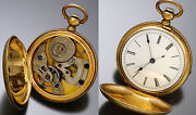 Antique Imperial Keywind Pocket Watch Ca1860s   Sweep 2nd Hand Sterling Silver