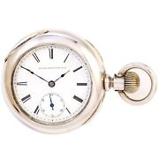 Antique Elgin Pocket Watch Ca1889 | Large 18 Size 5 Ounce Coin Silver