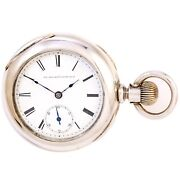 Antique Elgin Pocket Watch Ca1889   Large 18 Size 5 Ounce Coin Silver