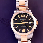 Longines Luxury Watch   25 Jewel Automatic Steel And Rose Gold With Boxes