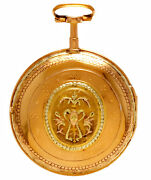 Antique Gold Verge Fusee Pocket Watch Ca1800 | 18k Repousse Swing Out Case