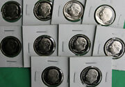 2000 Thru 2009 Proof Roosevelt Dime Collection 10 Coins From Us Mint Ten Cents
