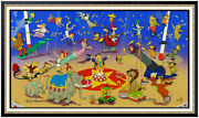 Hanna Barbera Original Hand Painted Cel Signed Circus Stars Large Animation Art