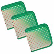 Cd Case Wallet Color Changing Red Stars Green Lotof 3 Lenticularcd24-r-012g-s3