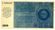 Germany … P-190 … 100 Reichmark … Nd1945 Old Date 1933 ... Chxf-aulocal Note