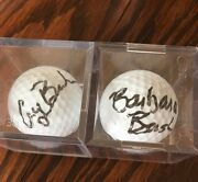 George And Barbara Bush Signed / Autographed Golf Balls Selling As A Set