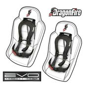 2 - Sand Rail Car Evo By Dragonfire H-style 4 Pt Sewn In Harness Seat Belts Blk