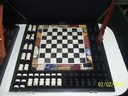 Hand Made Chess Set Dolimite With Case / Piece Of Art - Free Shipping