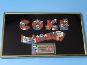 Atlanta Olympic Coca Cola Izzy Puzzle Pin Set Limited Edition In Frame