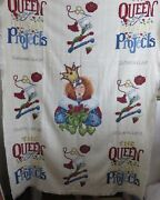 Completed Afghan Throw Queen Of Unfinished Projects Cross Stitch By Alma Lynne