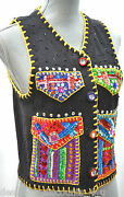 Michael Simon Knit Ugly Christmas Sweater Vest Sequin Holiday Packages Gift Sz S