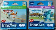 Lot Of 2 Vtech Innotab Learning App Tablet Games New Ages 4-7 Planes Monsters