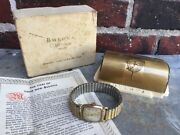 Incredible Vintage 1951 Bulova Director Watch 10k Gold Plate Original Case And Box