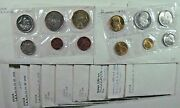 Greece Set Of 11 Mixed Aftermarket Coin Year Sets Unc/bu Free U.s. Shipping
