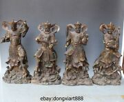 19 Chinese Myth Bronze Four Heavenly Kings Heaven Divine Troops Warrior Soldier