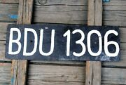 Old Car License Plate Frames Painted Black From Europe Poland