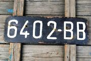 Old Car License Plate Frames Painted Black From Poland Europe Bydgoszcz City