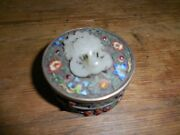 Chinese Gilt Silver Lidded Jade / Enamel And Jeweled Box 18th Ching