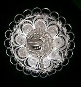 Victorian Sterling Silver Floral Taxco Mexican Hat Brooch Pin
